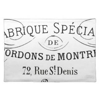 French-Fabrique vintage typography design Placemat