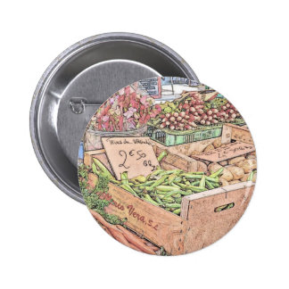 French Farmers Market 6 Cm Round Badge