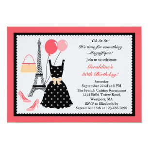 French birthday invitations zazzle french fashion birthday invitation stopboris Images