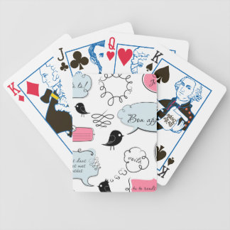 French Fashion Style Speech Bubbles Bicycle Playing Cards