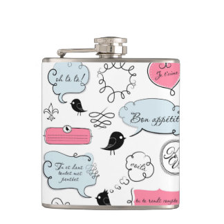 French Fashion Style Speech Bubbles Flask