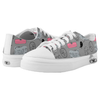 French Fashion Style Speech Bubbles Low Tops