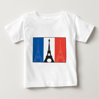 French Flag and Eiffel Tower Baby T-Shirt