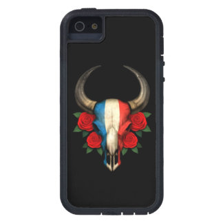 French Flag Bull Skull with Red Roses iPhone 5 Covers