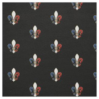 French Flag Colors Fleur de Lis Fabric