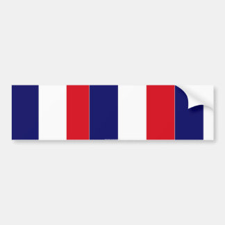 French flag colours bumper sticker