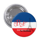 French Flag Eiffel Tower Bon Appetit 3 Cm Round Badge