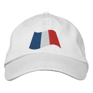 French Flag Embroidered Hat