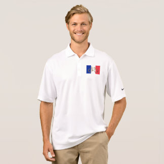 French Flag Golden Bike Bicycle Cycling Cyclist Polo Shirt