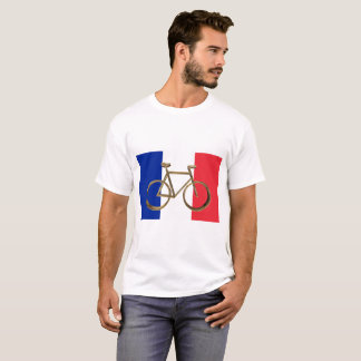 French Flag Golden Bike Bicycle Cycling Cyclist T-Shirt