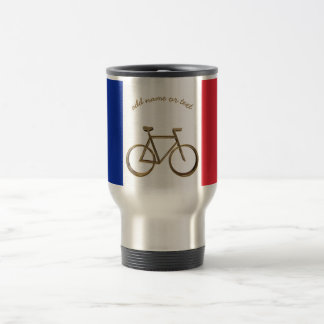 French Flag Golden Bike Bicycle Cycling Cyclist Travel Mug