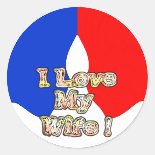French Flag Hakuna Matata I love My Wife image.png Stickers