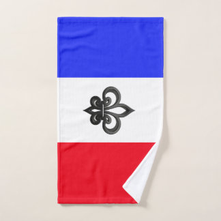 French flag hand towel