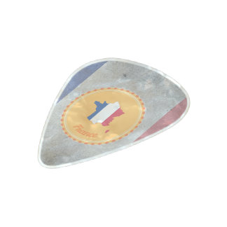French flag pearl celluloid guitar pick