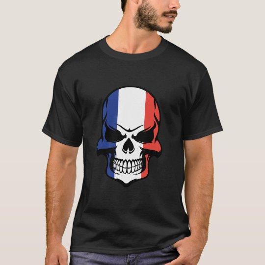 French Flag Skull T-Shirt