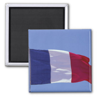 French flag square magnet