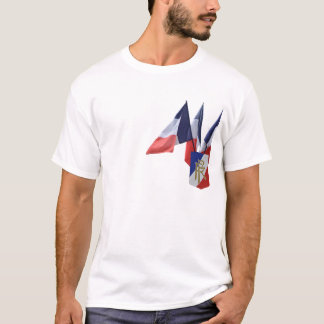 French flag tee