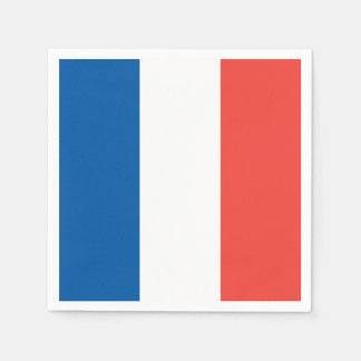 French Flag: Tricolor Bastille Day Party Banner Disposable Serviettes