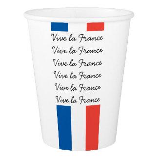 French Flag, Vive la France, Bastille Day Party Paper Cup