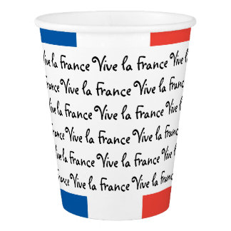French Flag, Vive la France, Bastille Day Party Paper Cup
