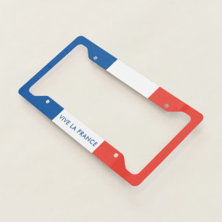 French Flag Vive La France Licence Plate Frame