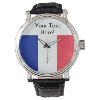 French Flag Wristwatch