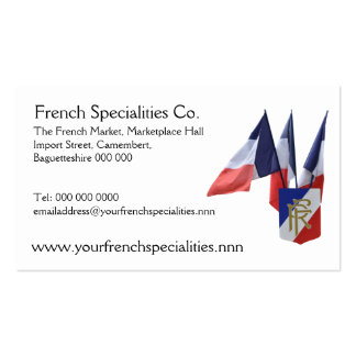 French flags specialty importers pack of standard business cards
