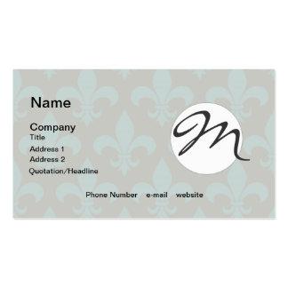 French Fleur de lis Monogram Trendy Paris Business Card Template