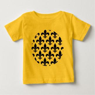 French fleur de lis Pattern Parisian Design Baby T-Shirt