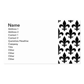 French fleur de lis Pattern Parisian Design Pack Of Standard Business Cards