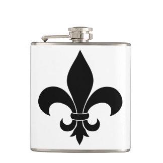 French fleur de lis Style Hip Flask