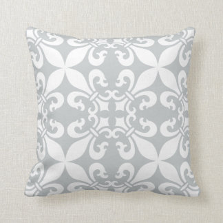 French Fleur de Lys Pattern Customizable Color Cushion