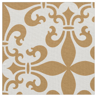 French Fleur de Lys Pattern Customizable Color Fabric