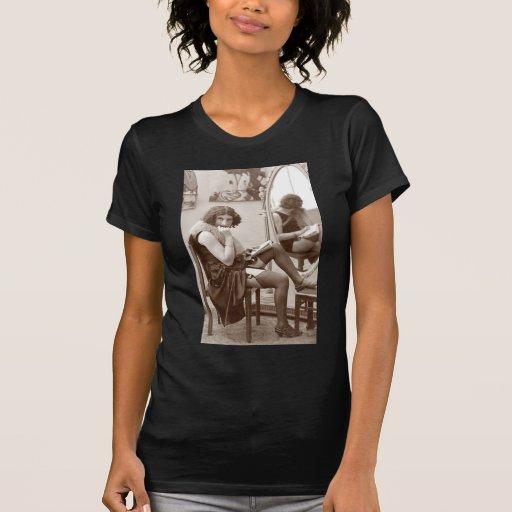 French Flirt -  Hosiery Pinup Girl T Shirts
