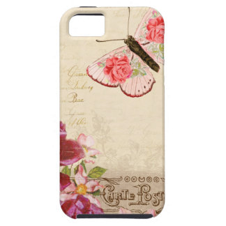 French Floral Carte Postale iPhone 5 Case