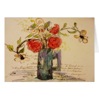 French Floral notes by artist, Lu Harris-Burr