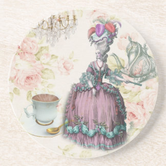 French floral Paris Tea Party Marie Antoinette Beverage Coaster