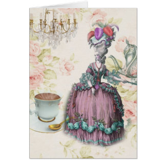 French floral Paris Tea Party Marie Antoinette Card