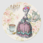 French floral Paris Tea Party Marie Antoinette Round Sticker