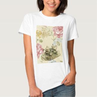 French floral Teacup Teapot Paris Tea Party Shirts
