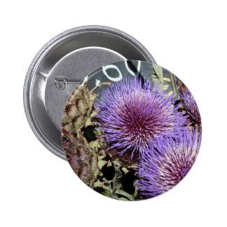 French Flower Market Purples Button