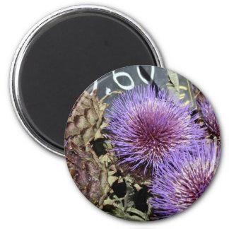 French Flower Market Purples Refrigerator Magnet