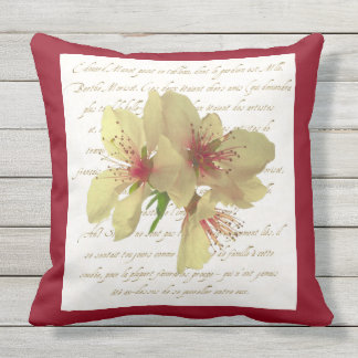 French Flower Patio Pillow