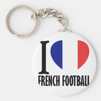 French football DESIGNS Basic Round Button Key Ring