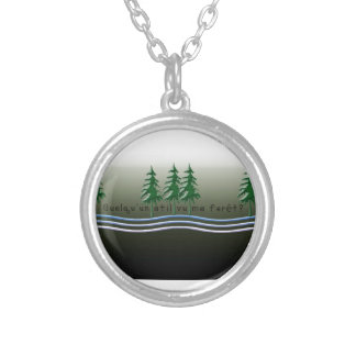 French-Forest Silver Plated Necklace