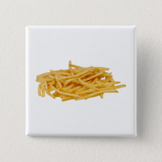 French Fries 15 Cm Square Badge