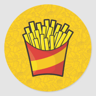 French Fries Classic Round Sticker