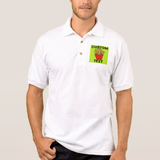 French fries custom design polo shirt