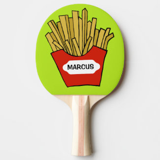 French Fries custom ping pong paddle