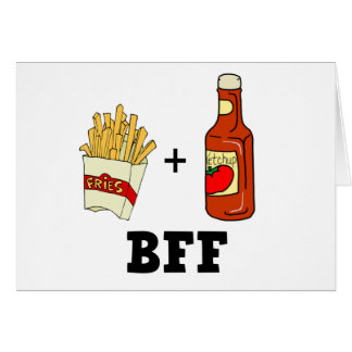 French fries & Ketchup BFF Card